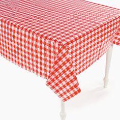 Red U0026 White Checkered Plastic Tablecloth