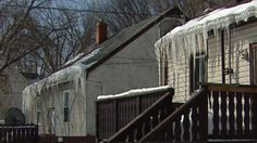 Large icicles can dent or warp an eavestrough - or even pull it off a house completely.