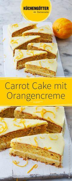 Oster-Rezept: Leckerer Carrott-Cake mit Frischkäse-Orangen-Creme.