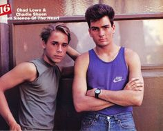 Charlie Sheen and Chad Lowe