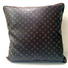 Louis Vuitton Monogram Leather Pillows from Jamie Herzlinger