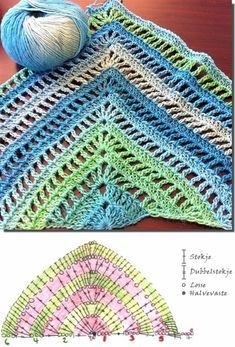 bufanda triangular a crochet ravelry the secret path shawl Xyra pattern-square poncho Dutch by XyraCreaties Poncho Au Crochet, Mode Crochet, Crochet Shawls And Wraps, Crochet Scarves, Crochet Clothes, Knit Crochet, Diy Crafts Crochet, Crochet Projects, Crochet Chart