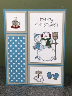 Stampin Up Handmade Christmas Card Snowman Holiday Combined Shipping | Crafts, Handcrafted & Finished Pieces, Greeting Cards & Gift Tags | eBay!