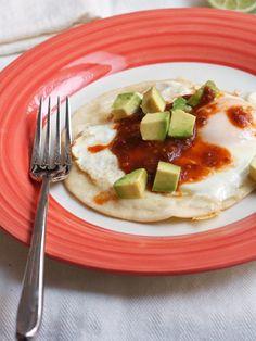 Open Faced Egg Quesadillas with Fuego Salsa & Avocado