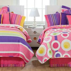 Little Miss Matched Bedding | Home Nursery & Kids Teen Bedding Little Miss Matched Snappy Stripes ...
