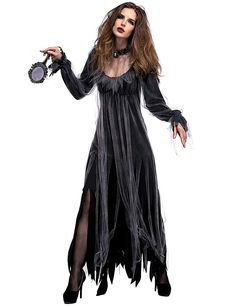 Halloween New Horror Deluxe Cemetery Bride Costume Ghost Bride Zombie Costume Bar Party Stage Vampire Demon Costume Best Halloween Costumes & Dresses USA Easy Halloween Costumes Scary, Halloween Dress, Halloween Snacks, Halloween Outfits, Halloween Cupcakes, Diy Halloween, Vintage Halloween, Halloween Horror, Halloween Cosplay