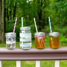 Mason Jar travel glasses -- would be great to decorate them for summer!