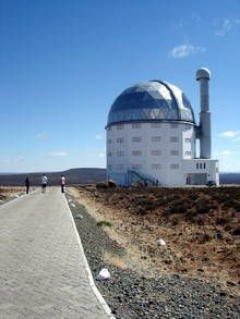 The observatory houses the largest single optical telescope in the Southern Hemisphere