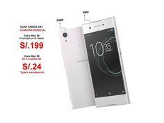 """LIQUIDACIÓN!!! Válido para renovación y portabilidad. El Xperia™ XA1 posee una pantalla de 5"""", una cámara de 23MP y 32 GB de memoria.  Pídelo en Plan S/99 a 199 o en 12 cuotas de S/24. >>¿Deseas evaluarte? Escribe aquí 👉http://m.me/smartfonizateconclaro"""