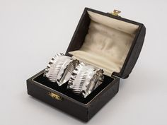 Cased Pair of Victorian Silver Napkin Rings, 1891 (ID 48164) by…