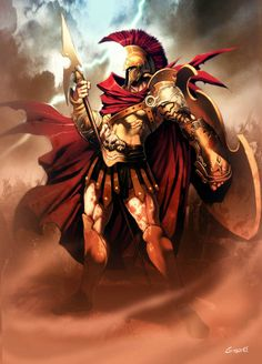 Ares (Mars) - Greek God of War. He is one of the Twelve Olympians, and the son of Zeus and Hera. God Of War, Zeus And Hera, Son Of Zeus, Greek Gods And Goddesses, Greek And Roman Mythology, Computer Clipart, Dungeons And Dragons Classes, Roman Gods, Spartan Warrior
