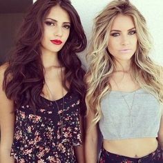 I love both of these colours! I like the darker roots with the blonde and the overall colour of the brunette