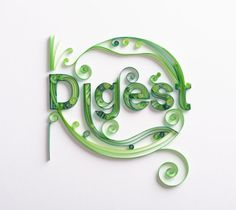 Quilling for Twinings UK by Lavanya Naidoo, via Behance via All Things Paper