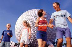 Walt Disney World, Epcot - Guests At Spaceship Earth