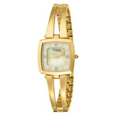 Caravelle by Bulova Women's 44P001 Diamond Accented Mother of Pearl Dial Watch Caravelle by Bulova. $47.50. Quality Japanese-quartz movement. Water-resistant to 99 feet (30 M). Domed Mineral crystal with Gilt Metalized Rim. Save 66% Off!