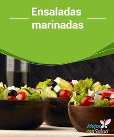 Ensaladas #marinadas  Debes tener en cuenta que en función de las #verduras que incluyas necesitarán más o menos tiempo de marinado. Finalizaremos la receta aliñando la #ensalada con el #aderezo restante #Recetas