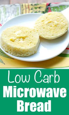 This low carb microwave bread is ready in less than five minutes, and has a spongy texture that readily soaks up butter, honey or jam. It's also good topped with cream cheese and smoked salmon, or with mustard and ham. via @healthyrecipes