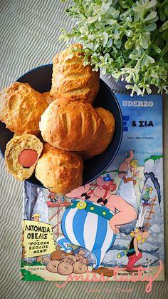 Λουκανικοπιτάκια με τυρένια ζύμη - Miss Tasty Recipes, Recipies, Ripped Recipes, Recipe, Cooking Recipes