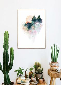 watercolor mountains boho room art print room decor Typographic Print girly wall decor framed quotes bedroom office tumblr room decor 8x10 makeup,room,interior,lol,funny,pretty,cute