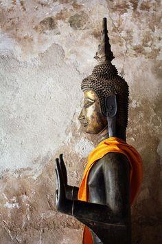 Bronze Buddha, Sisaket temple. Vientiane, Laos