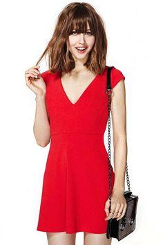 Shop Impression Belles for Nasty Gal Talia Dress. Sexy Dresses, Dress Outfits, Casual Dresses, Short Dresses, Red Skater Dress, Dress Red, Skater Dresses, Best Fashion Blogs, Fashion Fashion