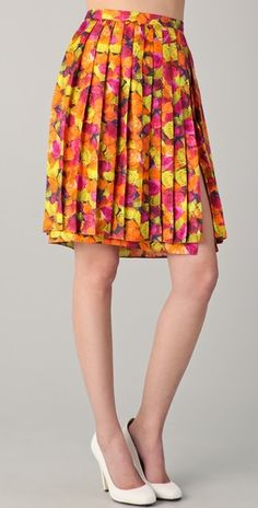 Peter Som Pleated Skirt