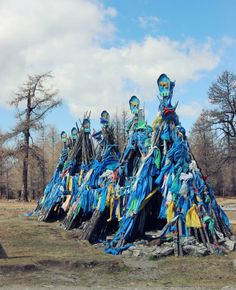 Ovoos in Mongolia, a shrine for the Shaman religion