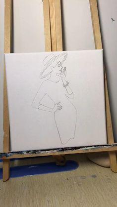 Modern Art Paintings, Happy Paintings, Cool Paintings, Canvas Painting Tutorials, Diy Canvas Art, Sharpie Drawings, Art Drawings, Buddha Art, Butterfly Art