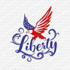 liberty svg 4th of July America USA red white blue