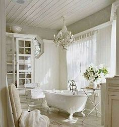 """~Farmhouse Bathroom~ """"great for a guest bath"""" the last pinned stated  but I want it all to myself"""
