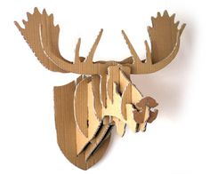 DIY - Deer - Cardboard - Moose head - wall - hanging - decoration
