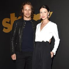 """Just Jared on Instagram: """"#Outlander costars #SamHeughan and #CaitrionaBalfe kicked off #GoldenGlobes weekend at the Starz party last night."""""""