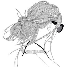 Images and videos of line drawings Tumblr Outline, Outline Art, Outline Drawings, Pencil Art Drawings, Tumblr Girl Drawing, Tumblr Drawings, Tumblr Art, Amazing Drawings, Cool Drawings