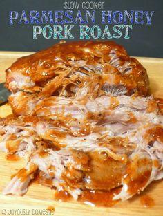 Slow Cooker Parmesan Honey Pork Roast