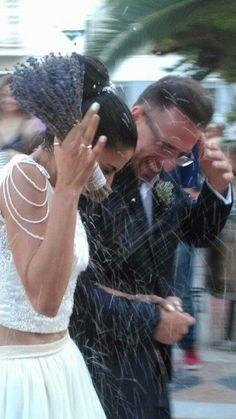 My wedding time!! #wedding # lavender # rice