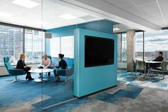 Coalesse Bob Lounge Chairs in a Silicon Valley Bank meeting area are designed to foster connections between teams.
