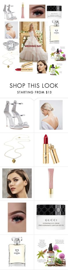"""WEDDING DAY😊"" by efarrida ❤ liked on Polyvore featuring beauty, Giuseppe Zanotti, ASOS, AERIN, Gucci and Chanel"