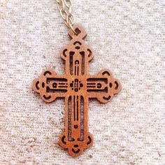 Detailed Wooden Cross Pendant on Antique Bronze Chunky Chain : Stunning Long Necklace http://www.lyliarose.com/ourshop/prod_2988862-Detailed-Wooden-Cross-Pendant-on-Antique-Bronze-Chunky-Chain-Stunning-Long-Necklace.html £6.00