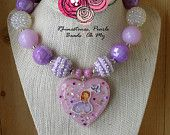 Sophia the First Necklace- Gifts for Girl's -1st Birthaday-Necklace for GIrls-Bubble Gum Necklace-Chunky Necklace-Toddler Necklace