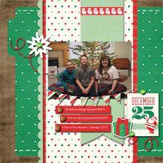Lori Whitlock December Blog Hop: Echo Park Christmas Cheer digital layout by Tya Smith