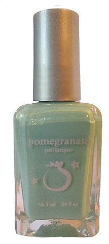 Pomegranate Nail Lacquer — Mermaid's Tail - blue-green nail polish with flaky shimmer
