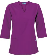 Butter-Soft Scrubs by UA Women's Solid 3/4 Sleeve V-Neck Top, Style #  UAS50C #scrubs, #fashion, #berryburst, #nurses, #uniformadvantage, #pantone2014radiantorchid