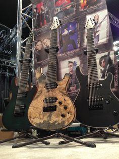 Mayones guitars at NAMM 2013 ... oh, yeah, more Buckeye burl :-)