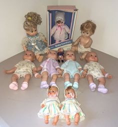 Lot Vintage Baby Dolls Cititoy Baby Carolyn Little Mommy Vogue Toys Collection #MixedLog #DollswithClothingAccessories