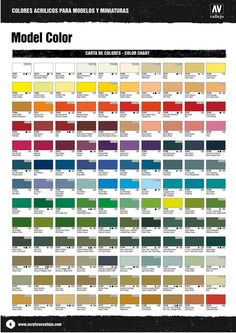 Humbrol Colour Chart  Art References    Colour Chart