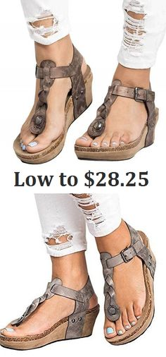 Shop Now for the Large Size Vintage Fashion Wedges Sandals Shoes. Size From US5 to US 13 for Options.