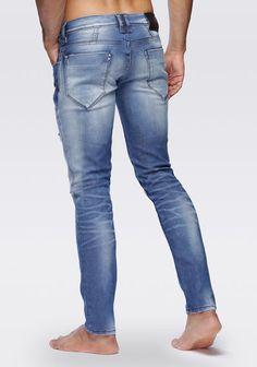 8f5417dc3ad345 Don Giovanni super skinny, destroy wash stretch denim jeans