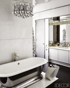 Trend Spotting White Interiors in Design, Home Decor, Art, Accessories, Style and Fashion. Featured: All White Color Palettes in the Bathroom
