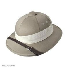 fe26c1b97c2 Village Hats Men s Pith Helmet - Beige - One size  Amazon.co.uk  Clothing