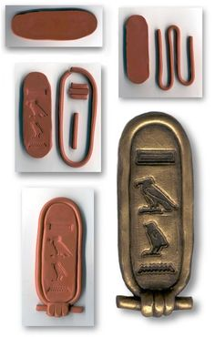 Make your own Cartouche out of clay! No instructions, just the pictures.